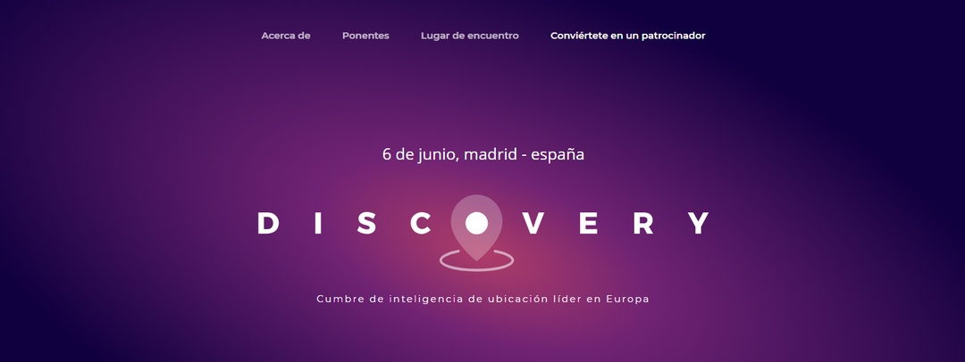 Discovery: Europe's leading Location Intelligence Summit