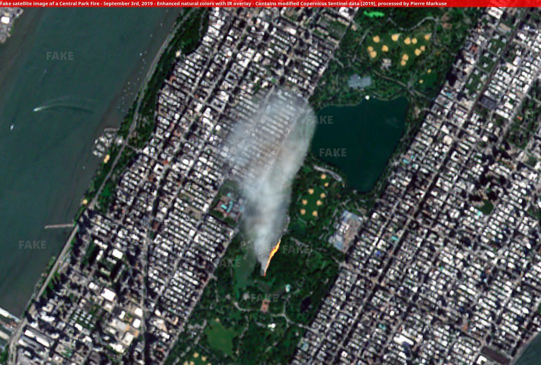 Falso incendio en el Central Park de Nueva York