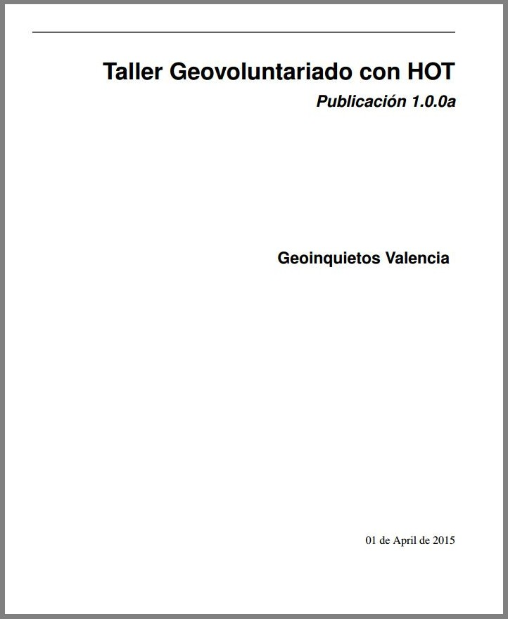 Manual de geovoluntariado con HOT