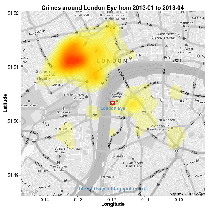 Visualising Crime Hotspots in England and Wales using {ggmap} by Jo-fai Chow