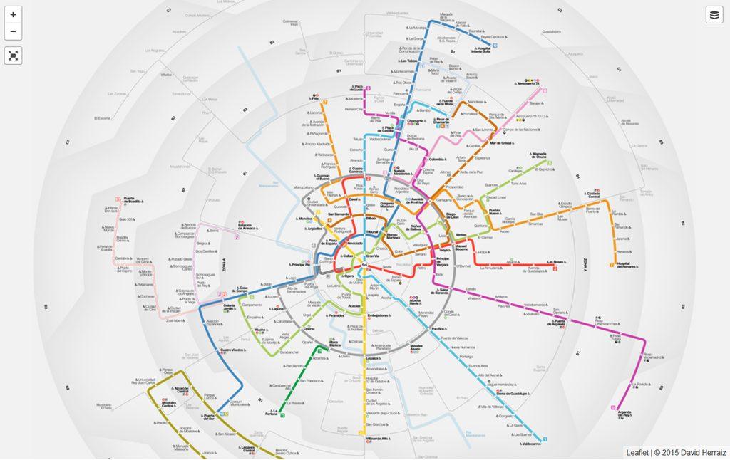 Un atractivo y no oficial plano del metro y ferrocarril de